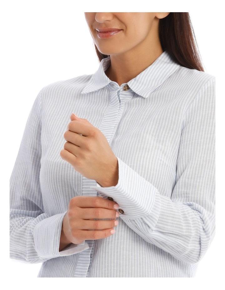 Linen Stripe Shirt image 4