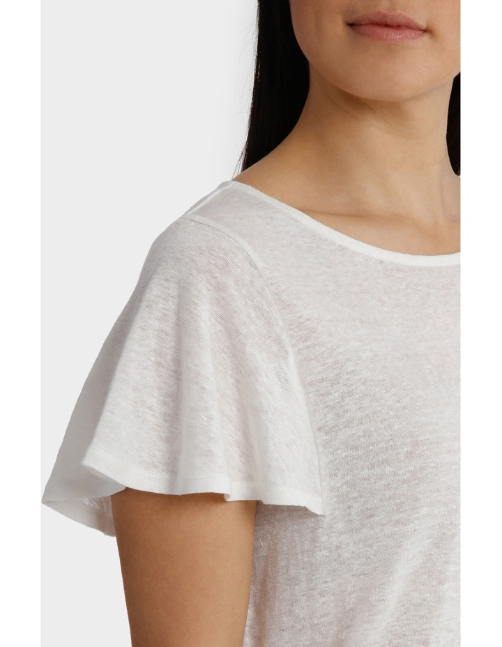Linen Short Sleeve Tee image 4