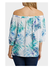 Trent Nathan - Tonal Fern Off The Shoulder Top