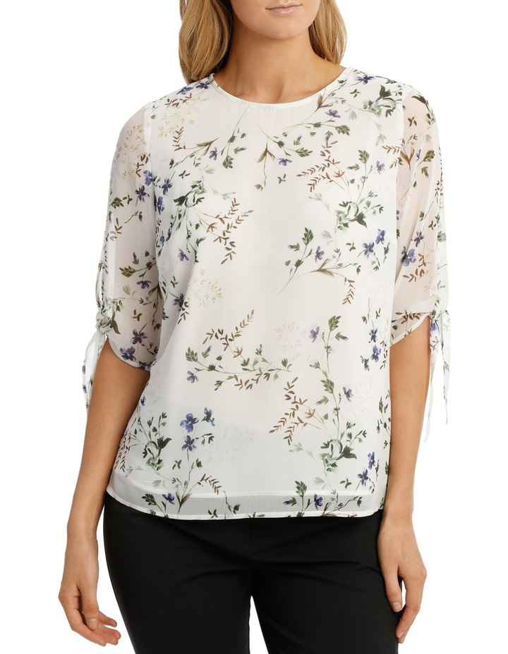 Slit Sleeve Floral Bunch Top image 1