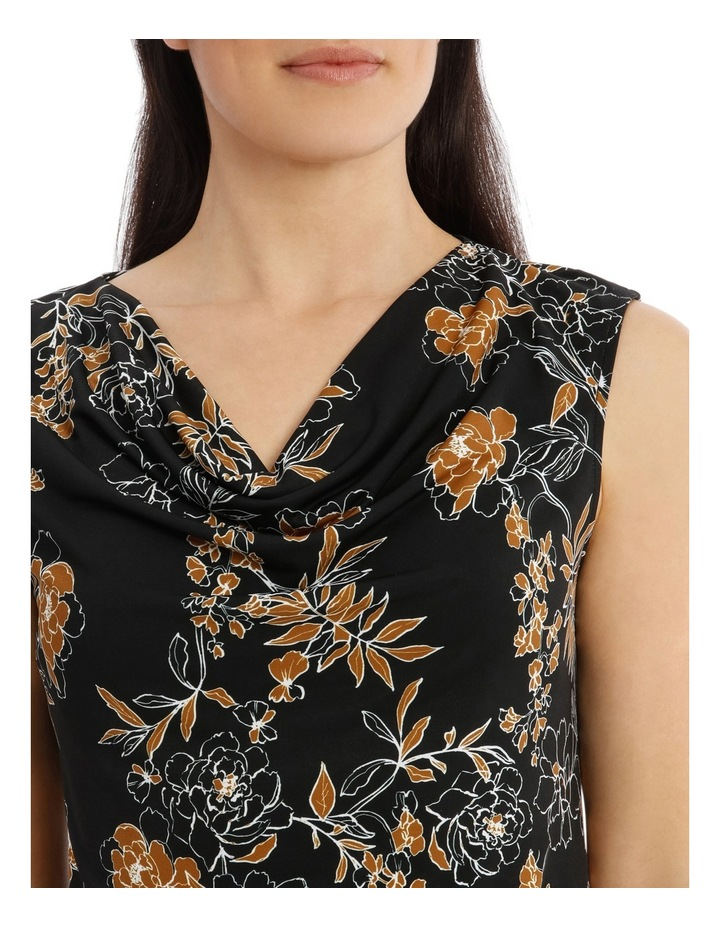 Carnation Print Sleevesless Cowl Neck Top image 4