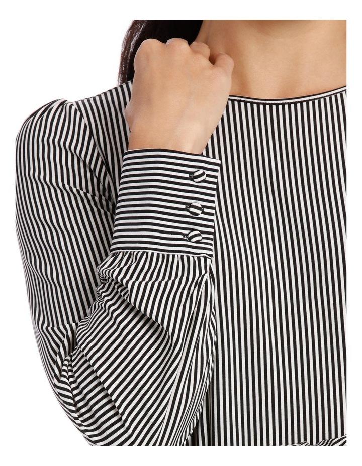 Static Stripe Cuffed Blouse image 4