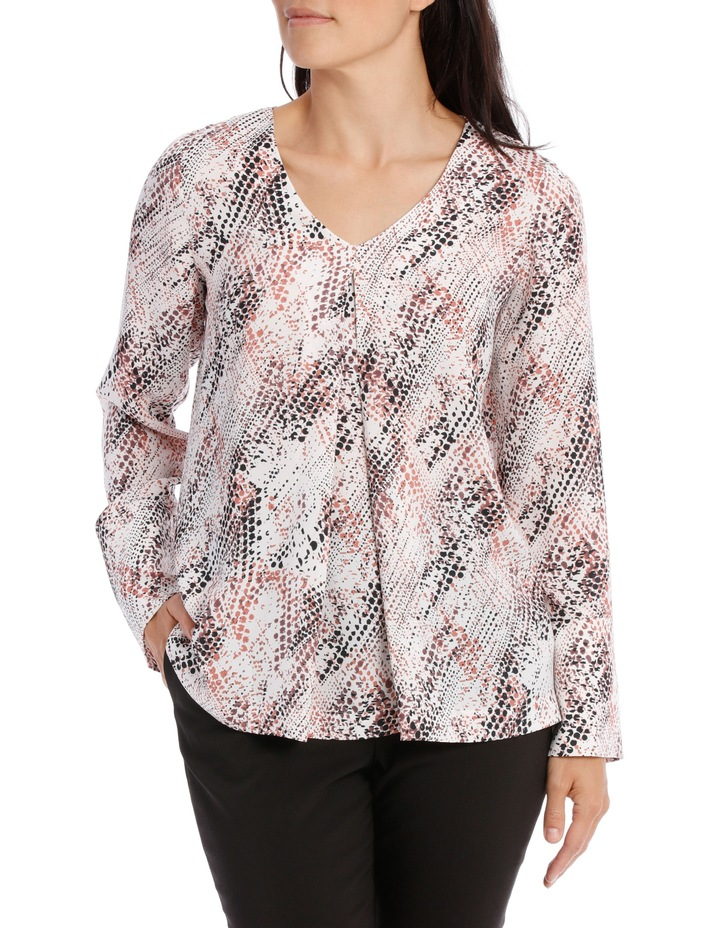 Printed Tuck Front Blouse image 1