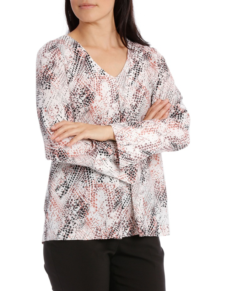 Printed Tuck Front Blouse image 2