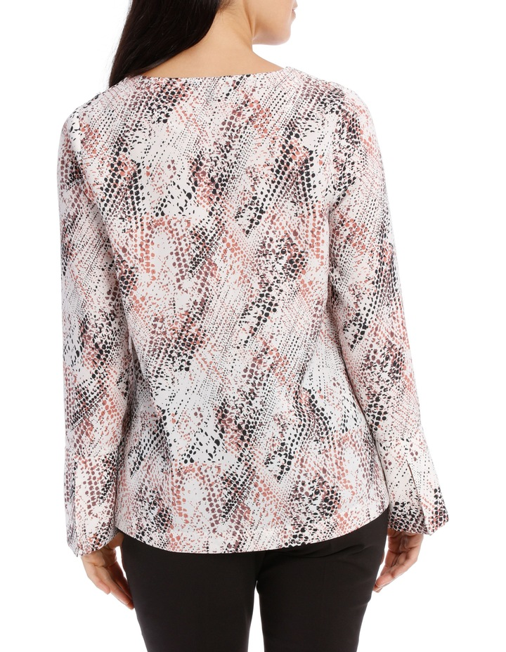 Printed Tuck Front Blouse image 3