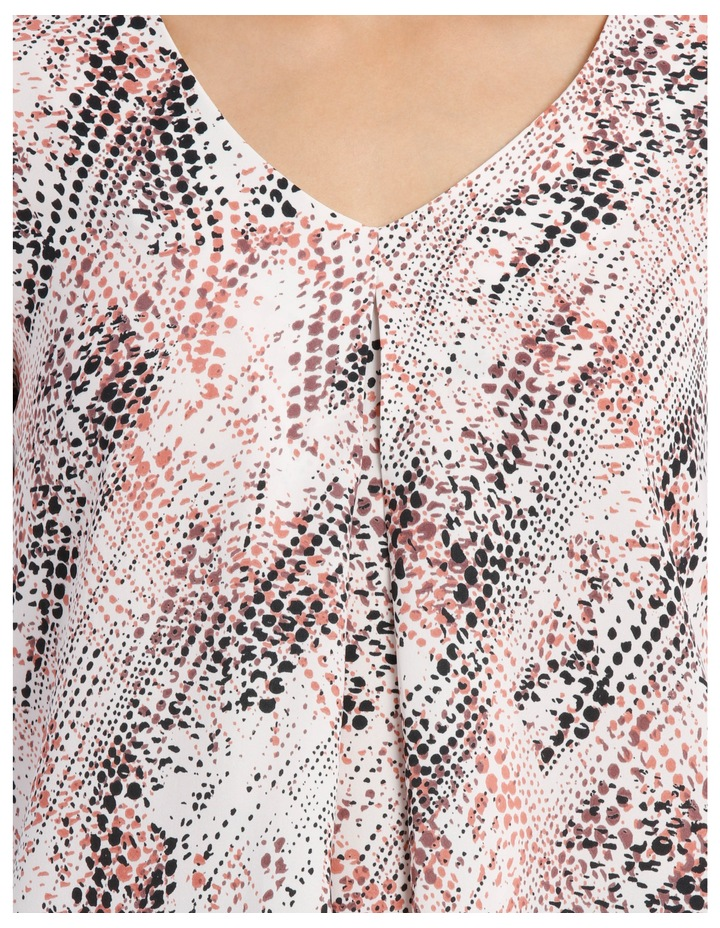 Printed Tuck Front Blouse image 4