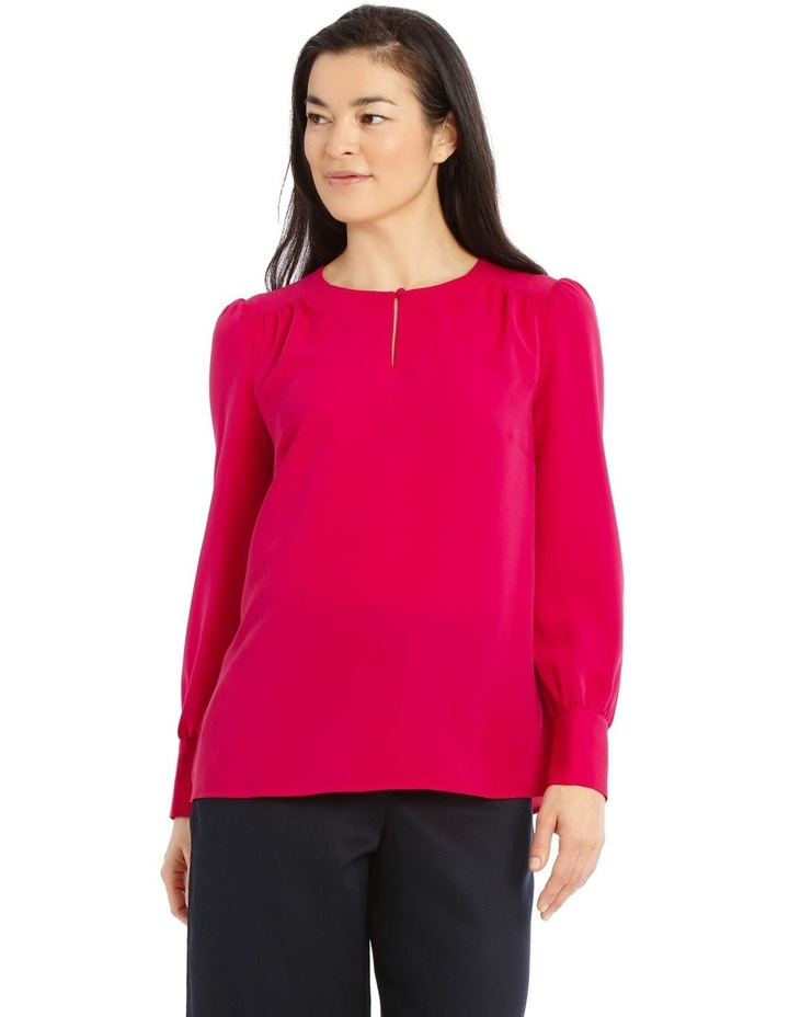 Long Sleeve Piped Detail Top image 1