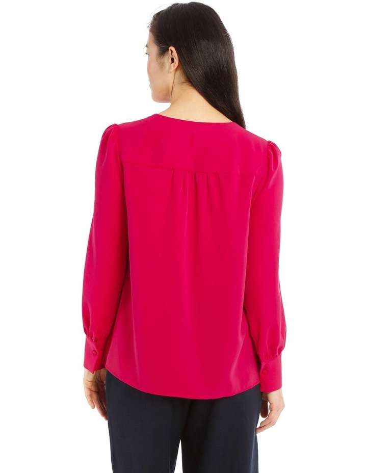 Long Sleeve Piped Detail Top image 3