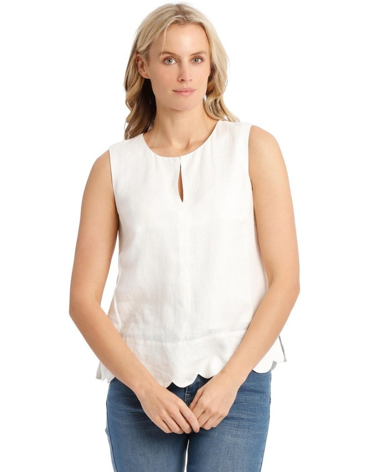 Scallop Sleeve Top image 1