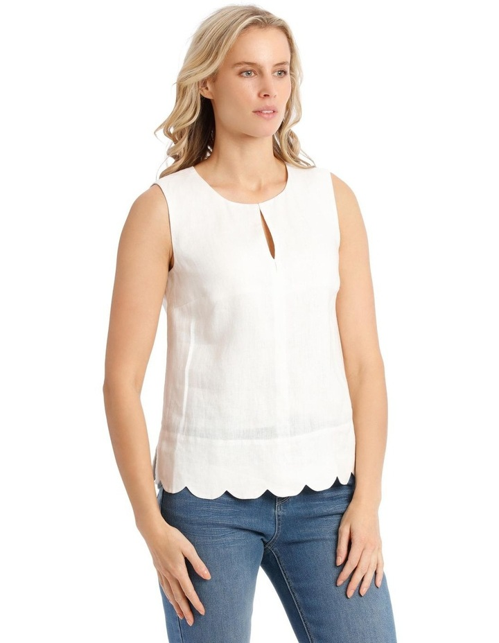Scallop Sleeve Top image 2