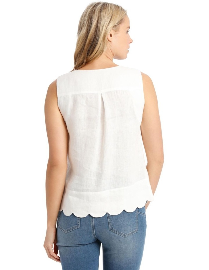 Scallop Sleeve Top image 3