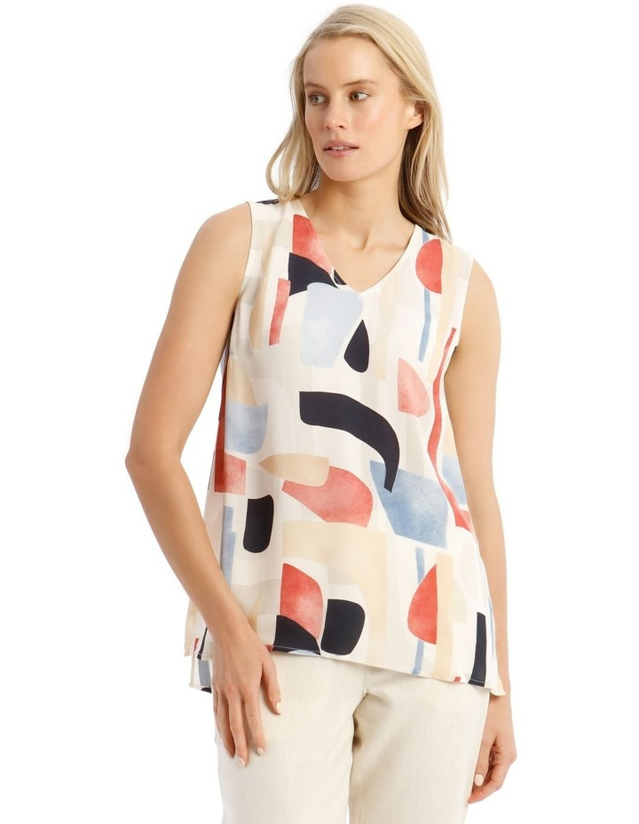 Sleeveless Tunic Abstract Top image 1