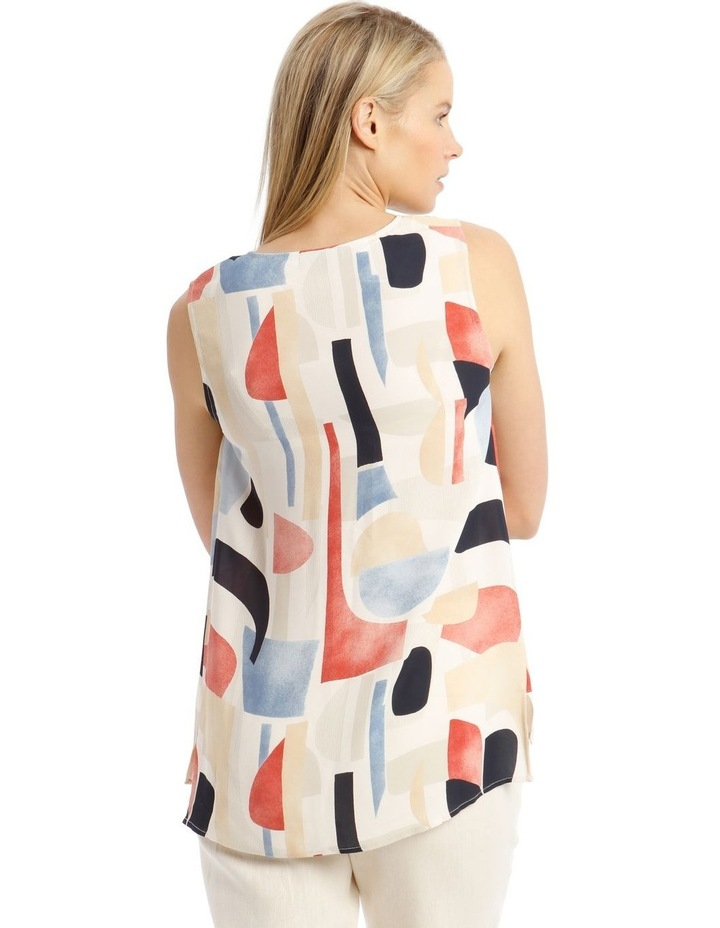 Sleeveless Tunic Abstract Top image 3
