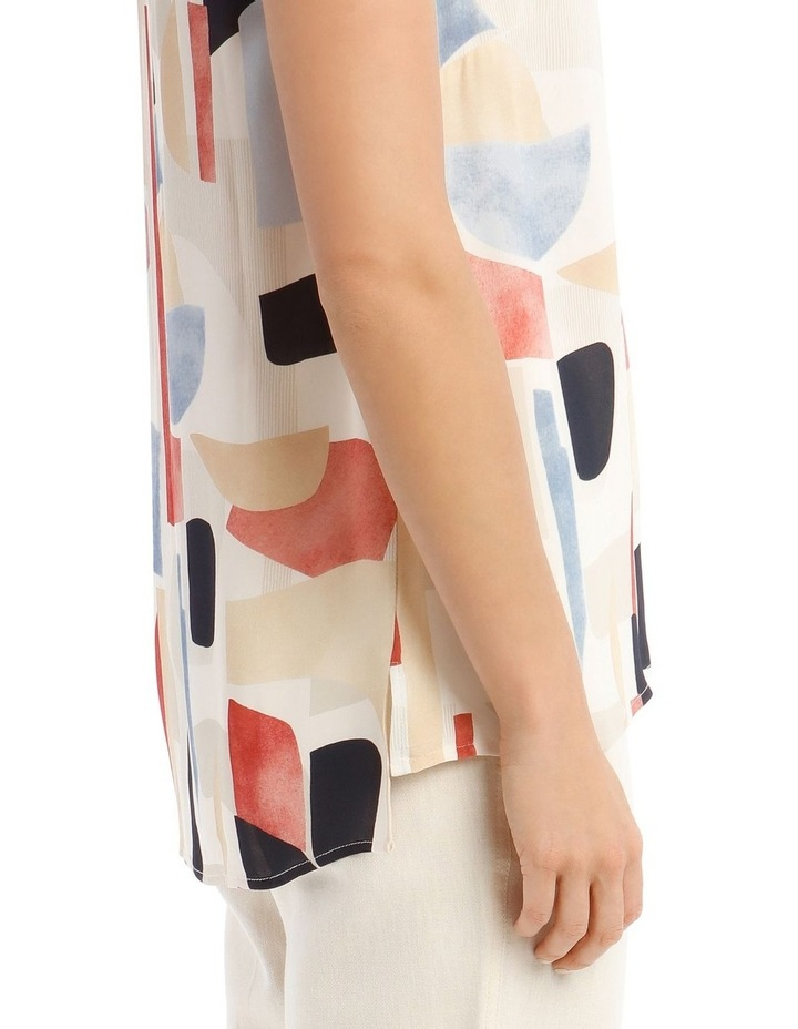 Sleeveless Tunic Abstract Top image 4