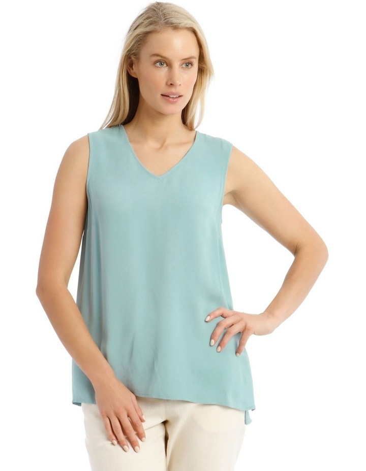 Sleeveless Tunic Blue Top image 1