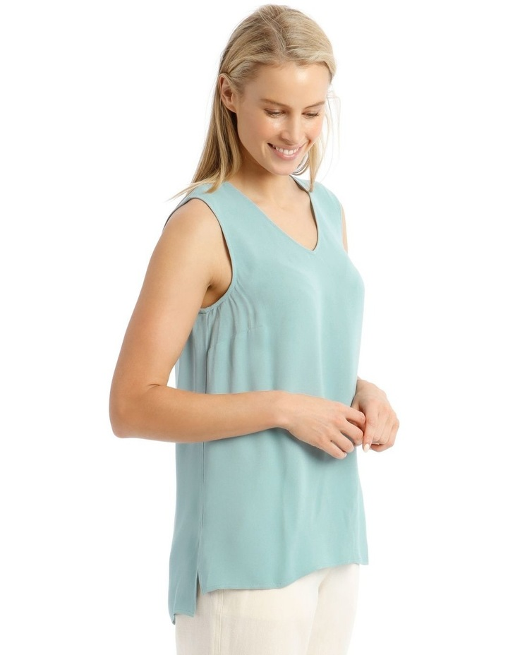 Sleeveless Tunic Blue Top image 2