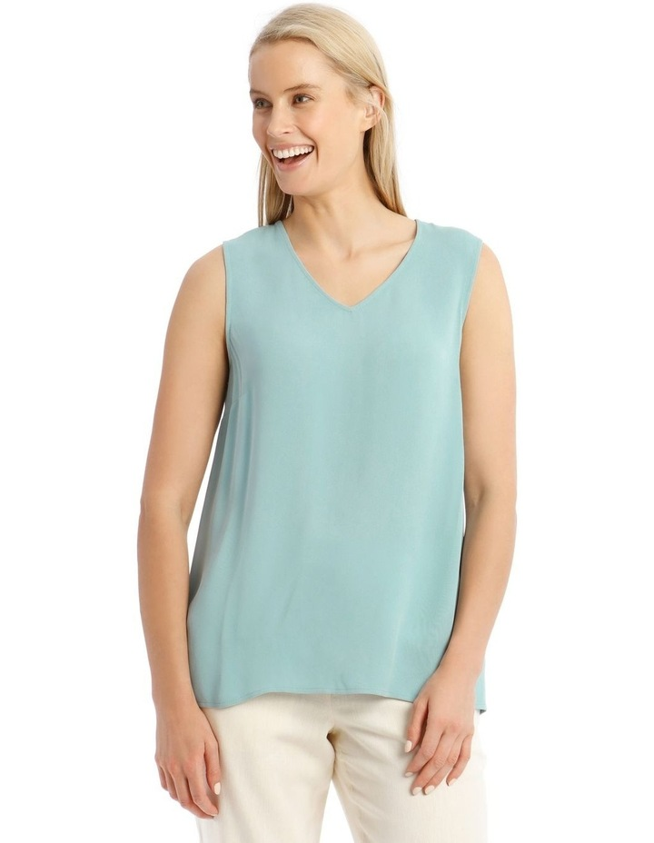 Sleeveless Tunic Blue Top image 4