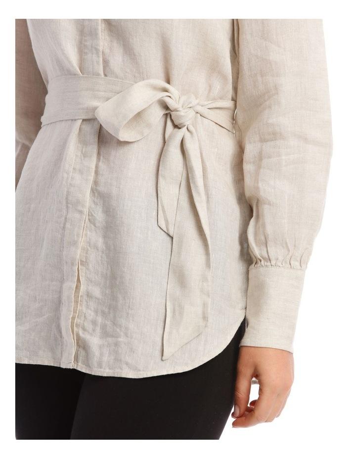 Linen Tie Waist Top image 4