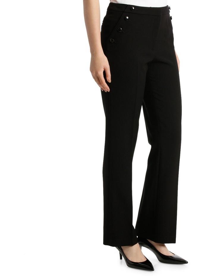 Button Trim Wide Leg Pant image 2