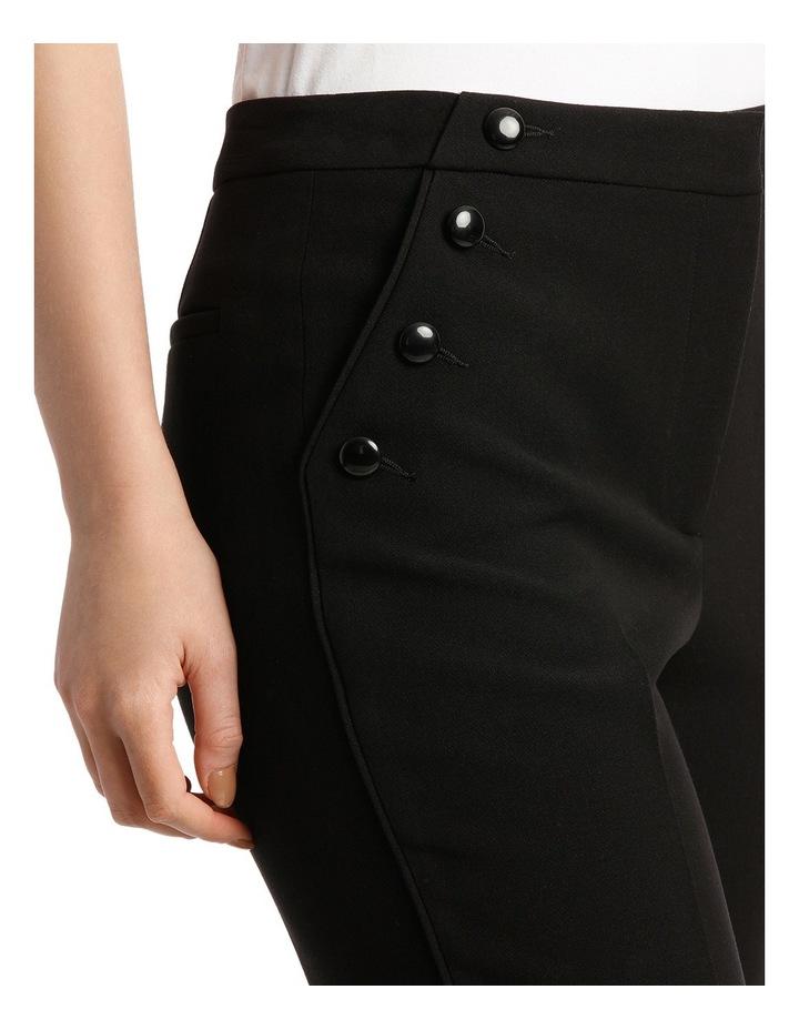 Button Trim Wide Leg Pant image 4