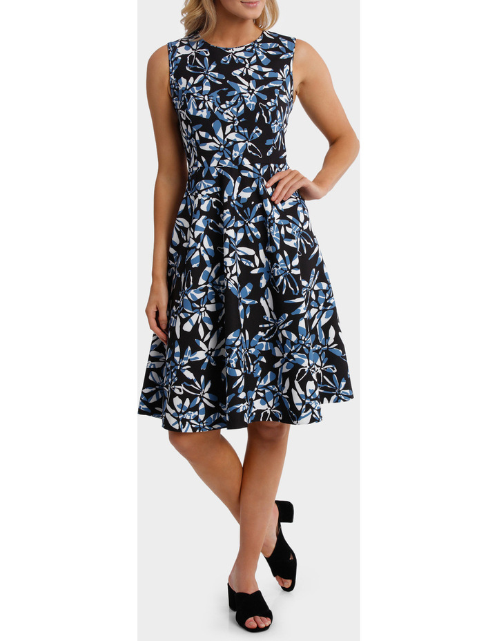 Block Floral Sleeveless Dress image 1