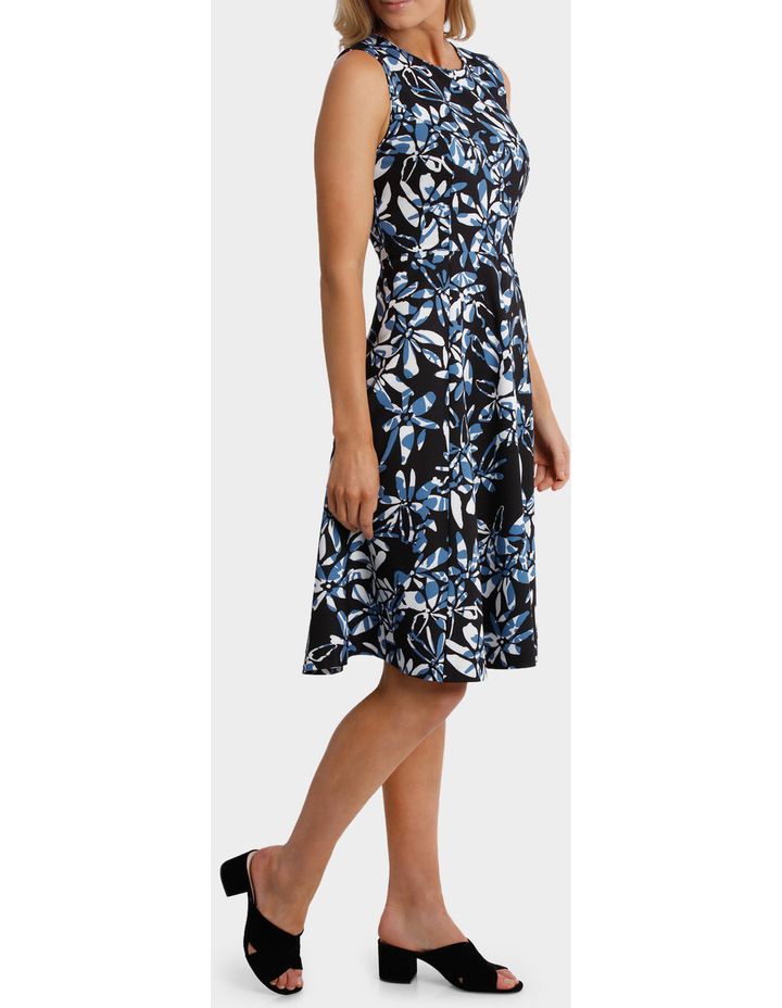 Block Floral Sleeveless Dress image 2