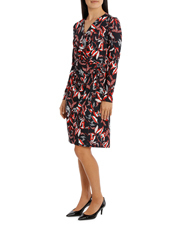 Trent Nathan - Printed Wrap Jersey Dress