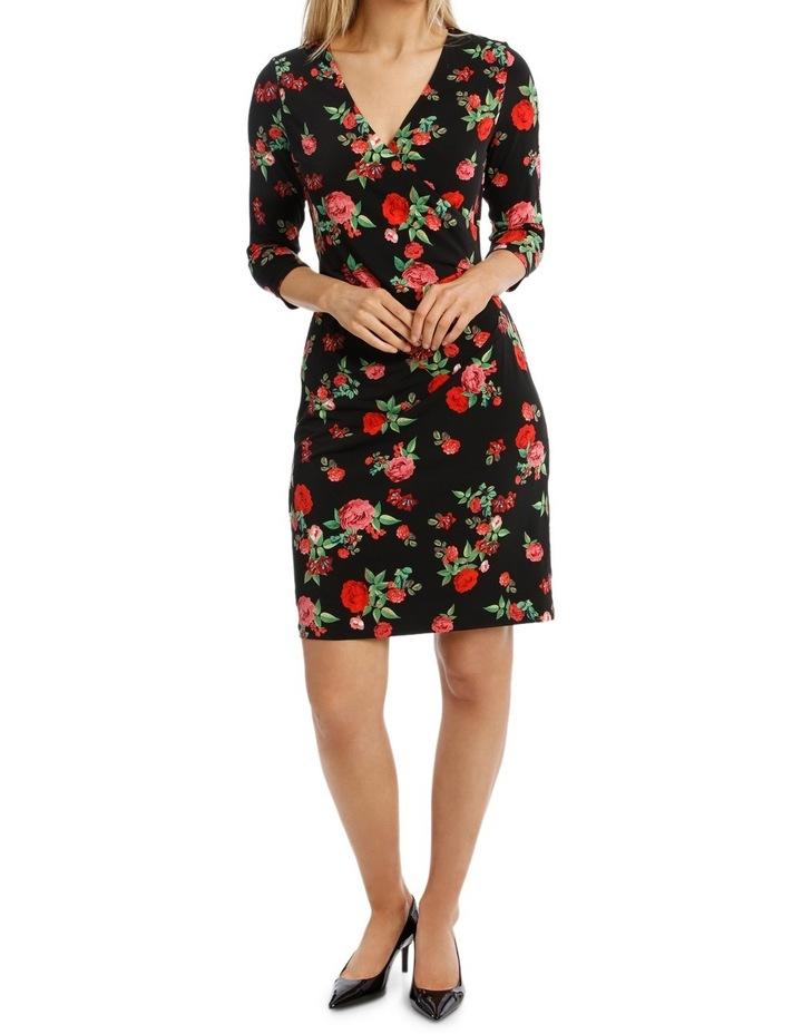 Rose Print  Sleeve Dress image 1