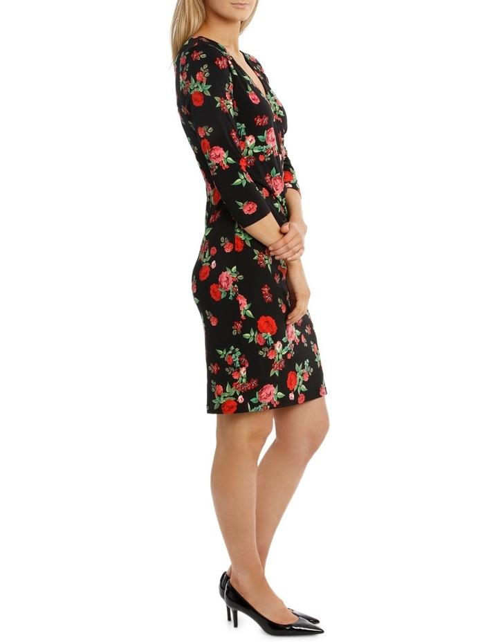 Rose Print  Sleeve Dress image 2