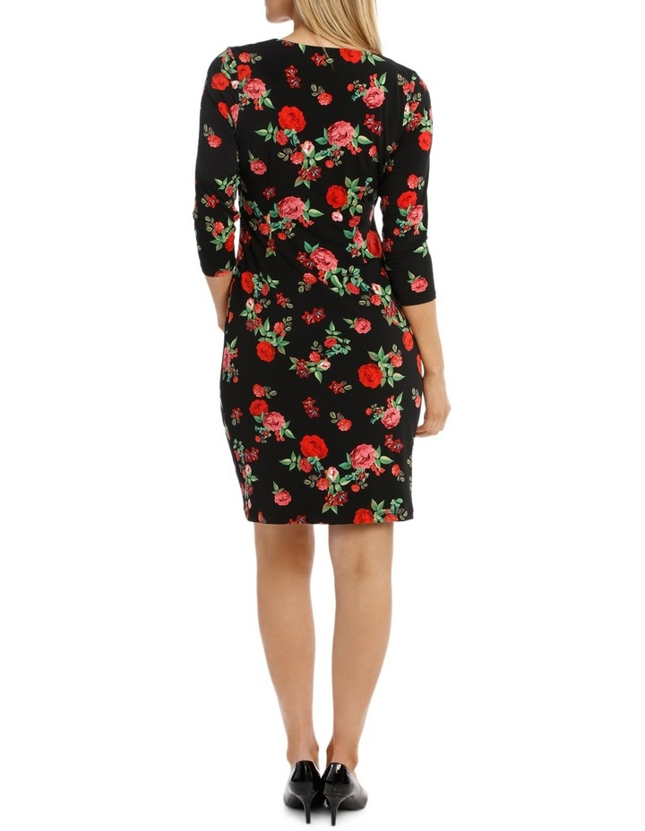 Rose Print  Sleeve Dress image 3
