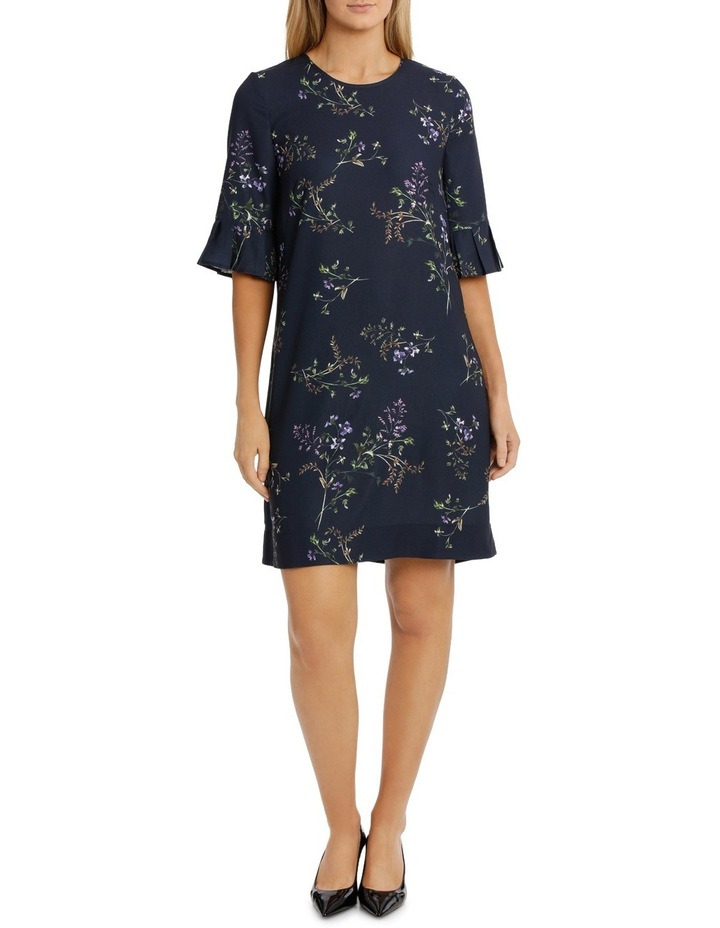 Frill Sleeve Floral Bunch Dress image 1