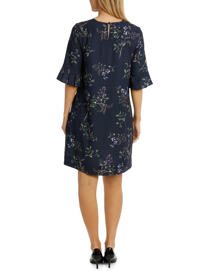 Frill Sleeve Floral Bunch Dress image 3