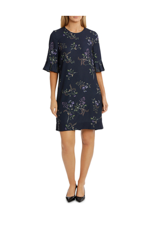 Trent Nathan - Frill Sleeve Floral Bunch Dress
