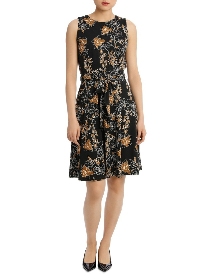 Carnation Print Sleeveless Dress 44Tn5960 image 1