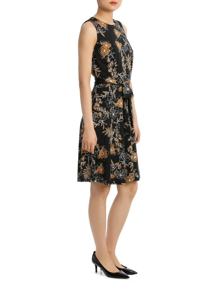 Carnation Print Sleeveless Dress 44Tn5960 image 2