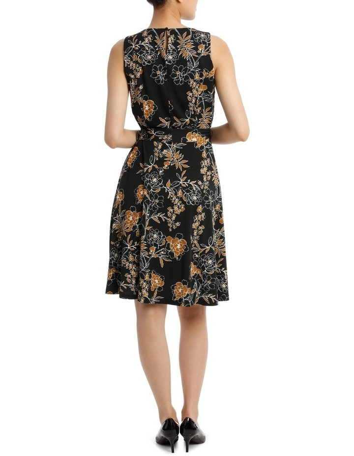Carnation Print Sleeveless Dress 44Tn5960 image 3