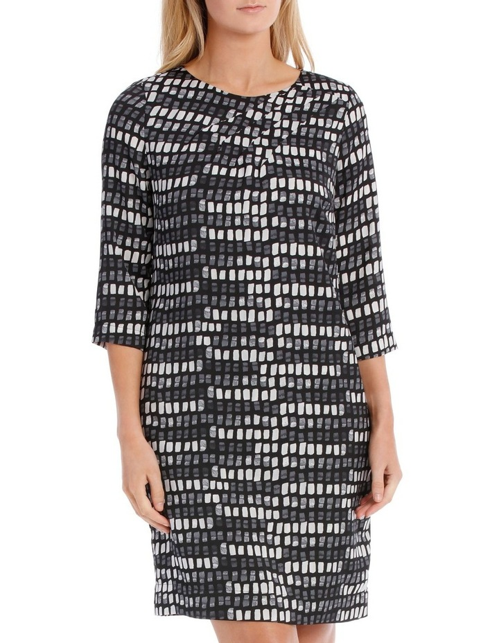 Print Pleat Detail Tunic Dress image 1