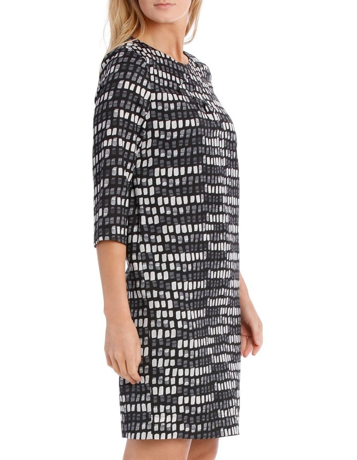 Print Pleat Detail Tunic Dress image 2