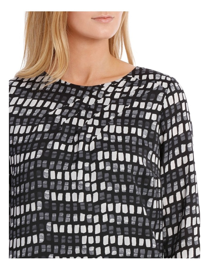 Print Pleat Detail Tunic Dress image 4