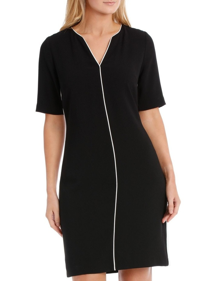 PIPED TUNIC DRESS image 1
