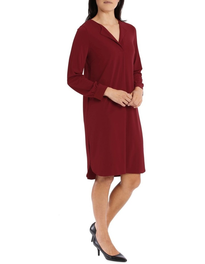 Red Tuck Front Tunic Dress image 2