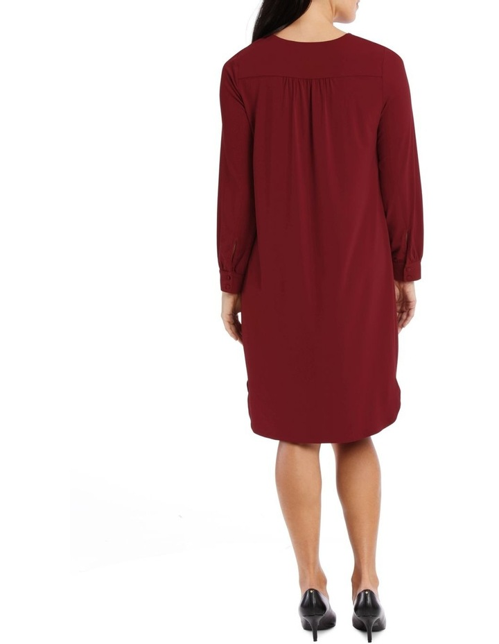 Red Tuck Front Tunic Dress image 3