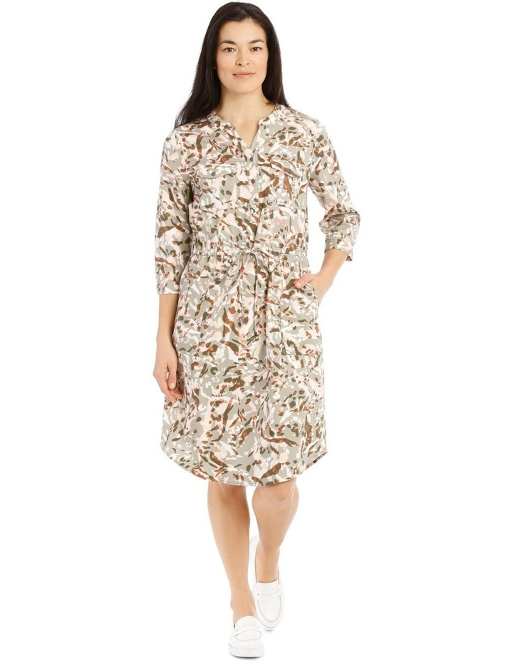 Shirt Dress With Patch Pockets image 1