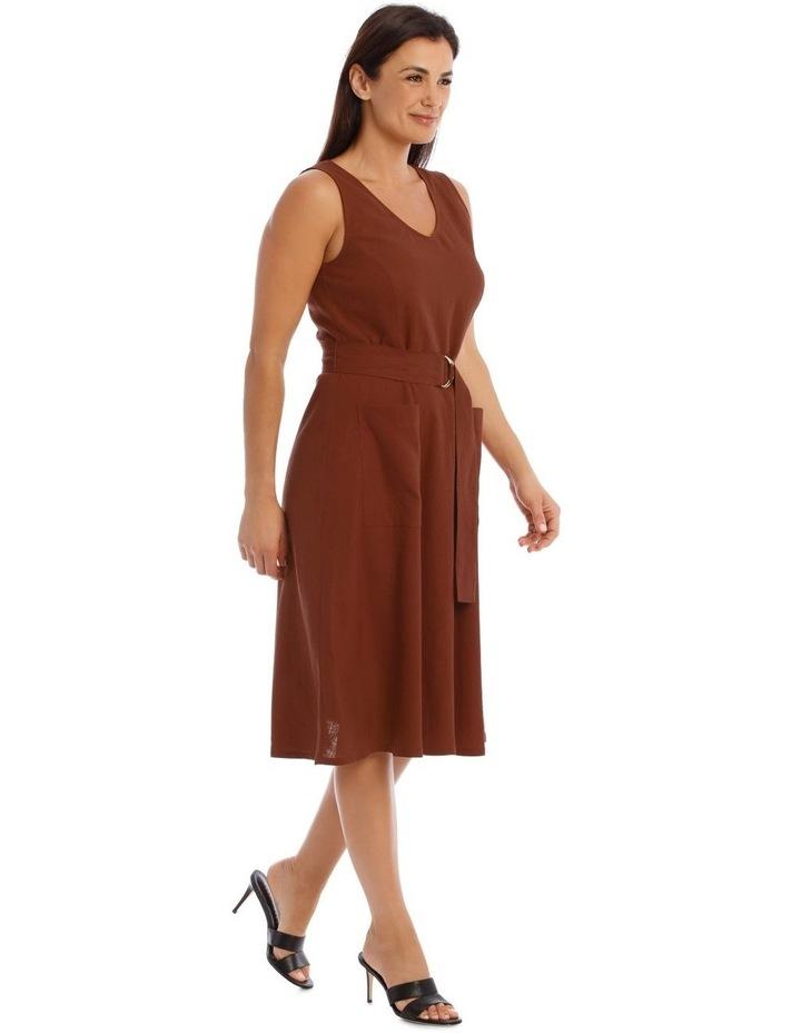 Linen Dress With V-Neck image 2