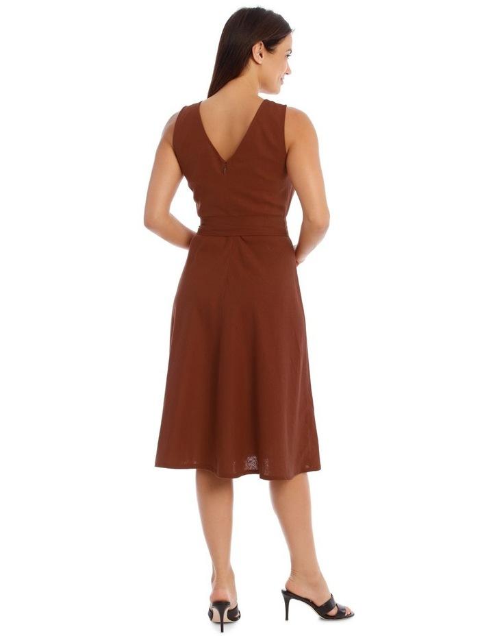 Linen Dress With V-Neck image 3