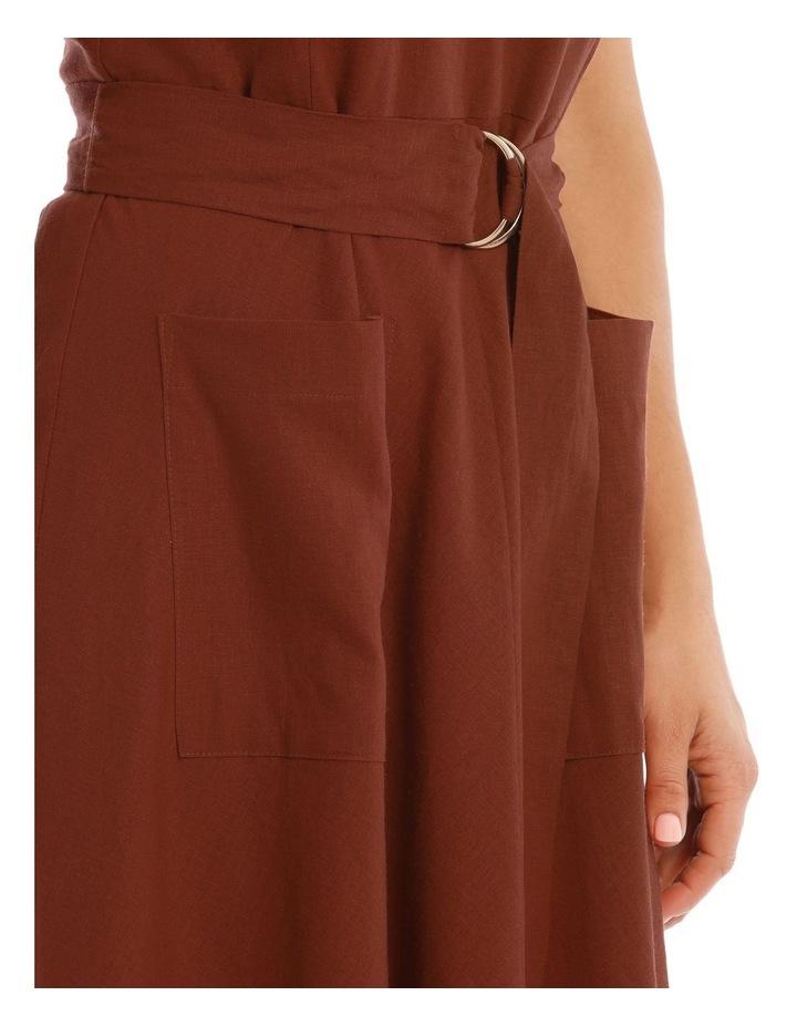 Linen Dress With V-Neck image 4