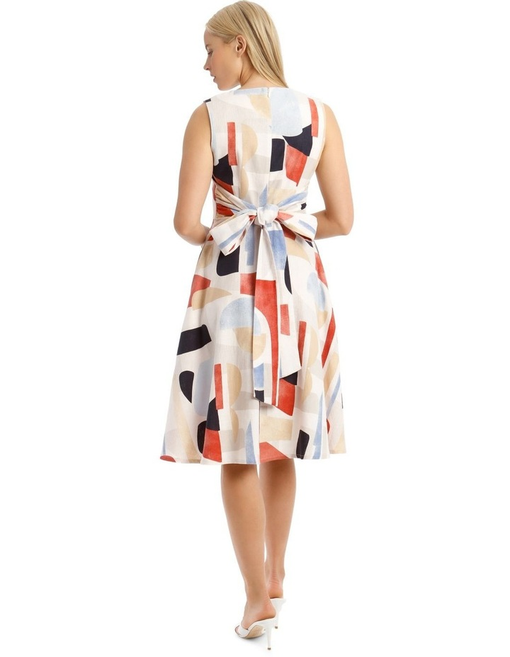 Printed Linen Dress image 3
