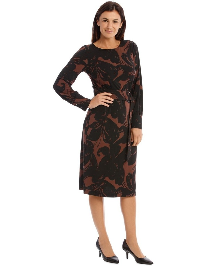 Jersey Dress With D-Ring Belt image 2