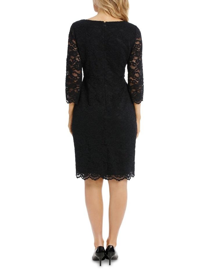 Midnight Lace Shift Dress 3/4 Sleeve image 3