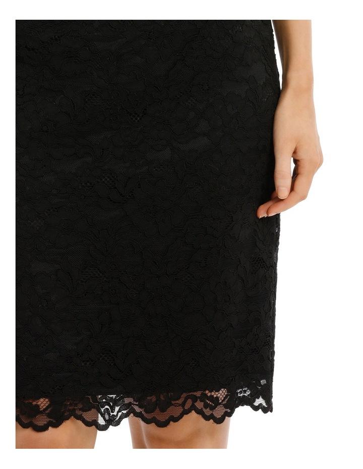 Black Lace Shift Dress 3/4 Sleeve image 4